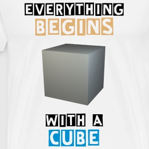 Everything begins with a cube - Männer Premium T-Shirt