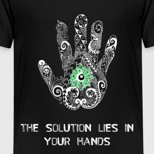 The solution lies in your hands kids tee - Premium-T-shirt barn