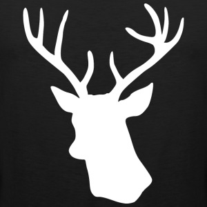 White Stag Deer Head T-Shirts - Men's Premium Tank Top