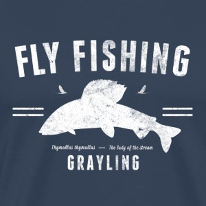 Fly fishing gryling - Premium-T-shirt herr