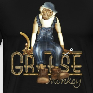 Funny Grease Monkey Mechanic - Men's Premium T-Shirt