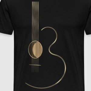 Acoustic Guitar Logo - Men's Premium T-Shirt