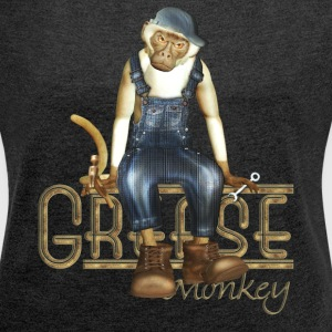 Funny Grease Monkey Mechanic - Women's T-shirt with rolled up sleeves