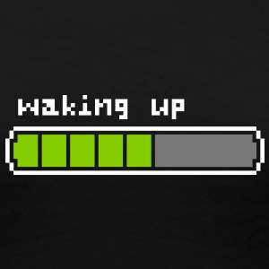 Waking up retrogaming t-shirt noir femme - T-shirt Premium Femme