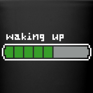 Waking up retrogaming mug céramique noir - Tasse en couleur