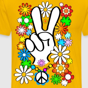 Flower Power Peace Shirt - Männer Premium T-Shirt