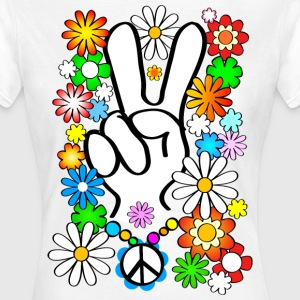 Flower Power Peace Shirt - Frauen T-Shirt