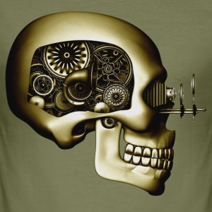 Steampunk Automaton / Robot Skull #3 T-Shirt - slim fit T-shirt
