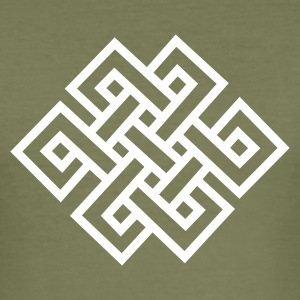 endless_knot_1c + free tibet - Männer Slim Fit T-Shirt