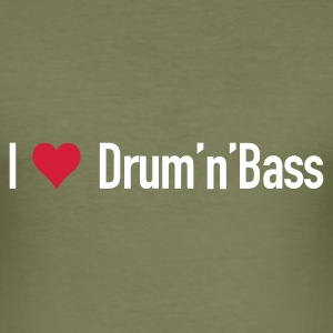 I love Drum'n'Bass T-Shirt - Männer Slim Fit T-Shirt