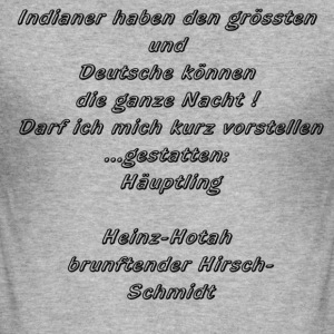 Indianer - Männer Slim Fit T-Shirt