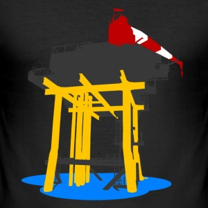Offshore platform - sketch - slim fit T-shirt