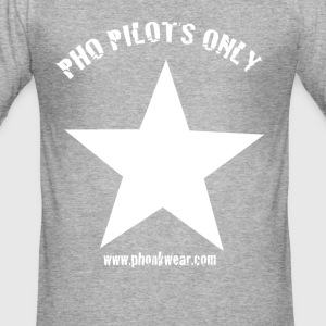 pho pilots only 2.0 - Männer Slim Fit T-Shirt