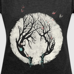 Moonlight - Women's T-shirt with rolled up sleeves