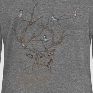 Oh my deer - Women's Boat Neck Long Sleeve Top
