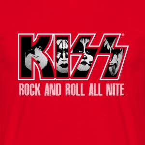 Kiss Rock And Roll All Nite  - Men's T-Shirt