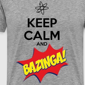 Herr T-shirt Keep Calm Bazinga - Premium-T-shirt herr