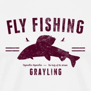 Fly fishing grayling - Men's Premium T-Shirt