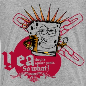 Teenagers' Premium Shirt SpongeBob 'Yea, so what?' - Teinien premium t-paita
