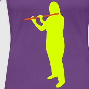 I play flute for Jesus - Frauen Premium T-Shirt