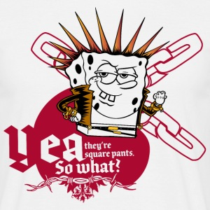Hommes Tee Shirt Bob l'éponge 'Yea, so what?' - T-shirt Homme
