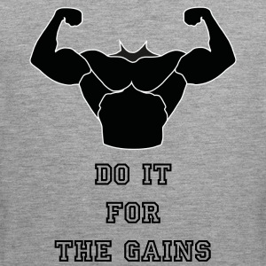 DO IT FOR THE GAINS - Men's Premium Tank Top