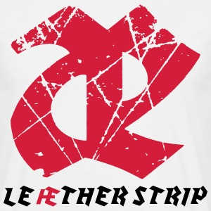 Leaether Strip - Logo : T-Shirt - white - Männer T-Shirt