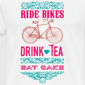 Ride bikes, drink tea - Men's T - Men's Premium T-Shirt