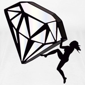 Climb a Diamond - white* - Frauen Premium T-Shirt