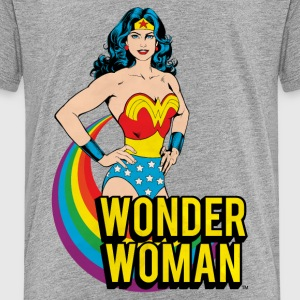 Wonder Woman regenboog teenager T-shirt - Teenager Premium T-shirt