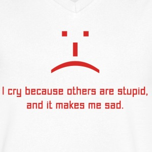 The Big Bang Theory Stupid Sad Herr T-Shirt - Ekologisk T-shirt med V-ringning herr från Stanley & Stella
