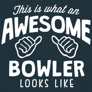 awesome bowler looks like - Men's T-Shirt