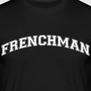 frenchman  college style curved logo - Men's T-Shirt