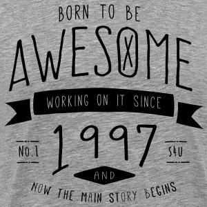 Birthday - Awesome - Retro T-Shirts - Männer Premium T-Shirt