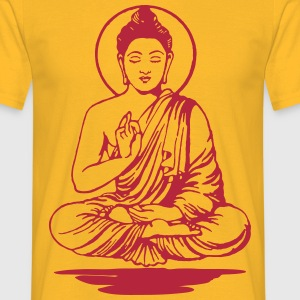 buddha-vektor-outline-shadow T-Shirts - Männer T-Shirt