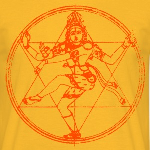 shiva-star-orange T-Shirts - Männer T-Shirt