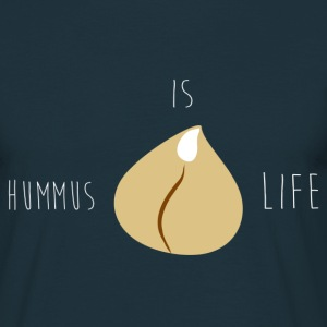 Hummus is Life Tee Men Navy - Mannen T-shirt