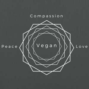 Peace, Love, Compassion, Vegan Tote Bag - Tas van stof