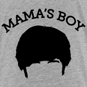 The Big Bang Theory Mama`s Boy premium-T-shirt ton - Premium-T-shirt tonåring
