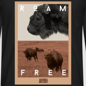 Animal Planet bison herre T-shirt - Herre premium T-shirt med lange ærmer