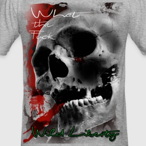 anarchie skull - Männer Slim Fit T-Shirt