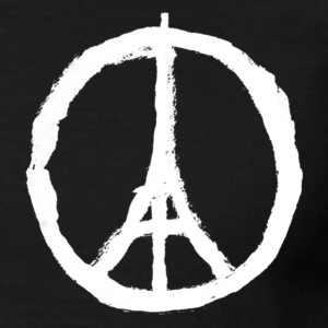 Tee-Shirt Homme Pray For Paris Peace. - T-shirt Homme