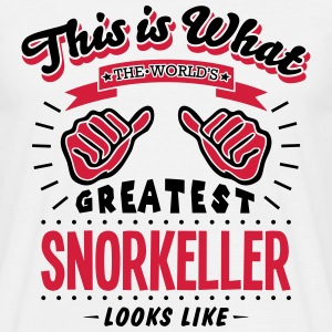 snorkeller worlds greatest looks like - Men's T-Shirt