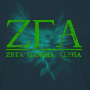 Zeta Gamma Alpha Retro Navy T-Shirt - Men's T-Shirt