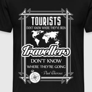 Tourst Traveller - white graphic - Maglietta Premium da uomo