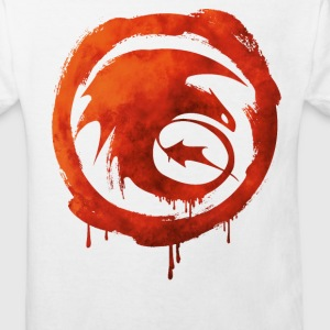 Dragon Icône ouragan Watercolor tee shirt - T-shirt Bio Enfant