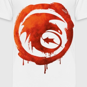 Dragons Icon Strike Watercolor T-Shirt - Kinder Premium T-Shirt
