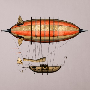 Vintage Steampunk Airship 44cm Sofa Pillow Cover - Sierkussenhoes, 44 x 44 cm