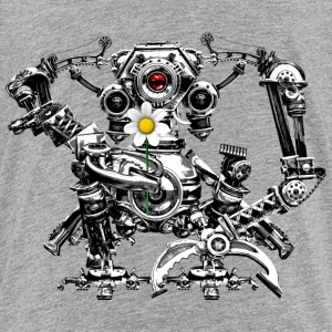 Steampunk/Cyberpunk Robot with a flower Teenager's - Teenage Premium T-Shirt