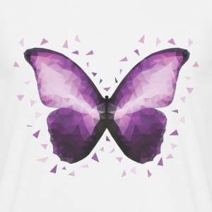 Purple Butterfly Polygon - Men's T-Shirt
